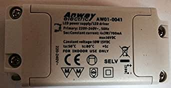 Anway aW 01–0041 transformateur 4 x led 3 w 10 w power supply 16 vdc