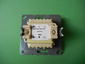 Jung 509U Mécanisme interrupteur double 10 AX / 250 V ~ Double va-et-vient