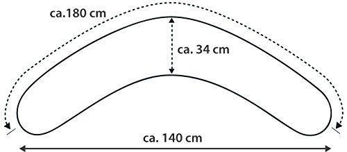 Theraline Komfort - Cuscino da allattamento lungo 180cm, con fodera