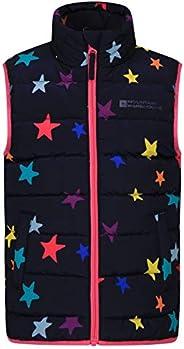 Mountain Warehouse Chaleco Acolchado Rocko para niños - Impermeable - Chaleco Acolchado de Microfibra - 2 Bols