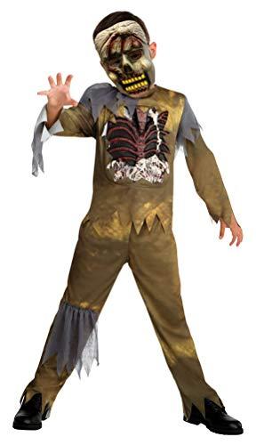 Karneval-Klamotten Zombie Kostüm Jungen mit Zombie Maske Größe ()