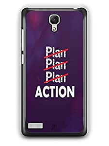 YuBingo Don't just plan. Action it. Designer Mobile Case Back Cover for Redmi Note