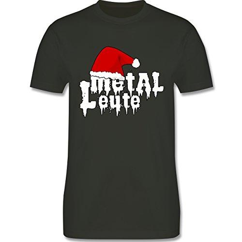 Weihnachten - Metal Leute - Weihnachtsmütze - L190 Herren Premium Rundhals T-Shirt Army Grün