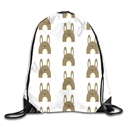 show best Bunny Rabbit Drawstring Gym Bag for Women and Men Polyester Gym Sack String Backpack for Sport Workout, School, Travel, Books 14.17 X 16.9 inch