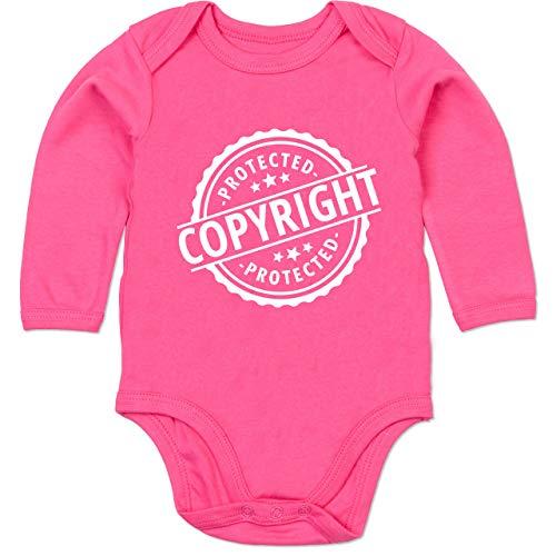 Shirtracer Karneval und Fasching Baby - Protected Copyright Kostüm - 3-6 Monate - Fuchsia - BZ30 - Baby Body (4 Jahreszeiten Kostüm Ideen)