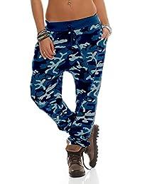 65f57a499e483e Shirtella Damen Camouflage Militär Hose Sweatpants Jogginghose Baumwolle  Freizeithose Boyfriend Haremshose mit Gummibund…