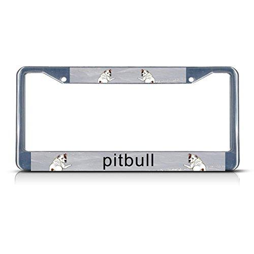 Pitbull chrom Nummernschild Rahmen Tag Halter