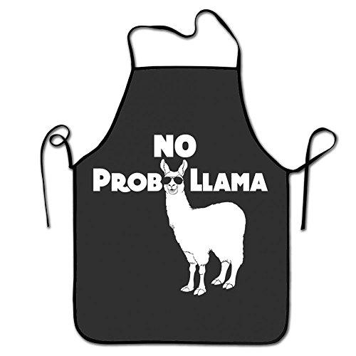 Love Lebkuchen Urlaub Reinigung Garten-Servieren Schürze für Kochen BBQ Schürze Happy Holidays No Prob Llama ()