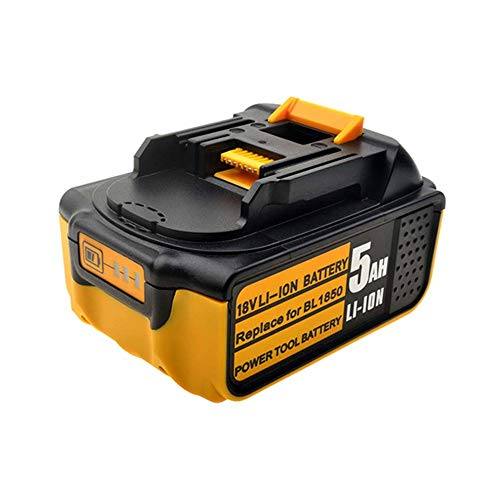 18V 5.0Ah Ersatz Akku mit Ladeanzeige für Makita Heckenschere DUH523Z Grasschere DUM604ZX Bohrhammer DHR171Z Rasentrimmer DUR181Z Rasenmäher DLM380Z Gebläse DUB362Z Batterie - Cordless Sds Hammer