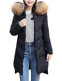 7a0def88f FELZ Moda Abrigos Mujer Invierno Abrigo Grueso de algodón con Capucha  Elegantes Slim sólido Abajo Chaqueta