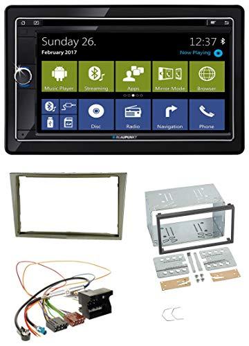Cape Town 945 World MP3 CD 2DIN DVD USB Bluetooth Autoradio für Opel Corsa D Astra H Zafira B Satin-Stone ()