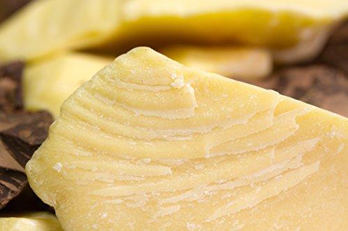 Reine Butter (Kakaobutter BIO zertifiziert kaltgepresst in Lebensmittel Rohkost-Qualität 100% rein, 100g)