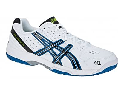 Asics Men's Gel Dedicate 3 Oc White/Black/Royal Blue Tennis Shoe E309Y 0190 10.5 UK