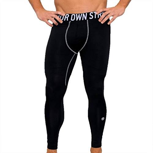 Gold's Gym Advance Herren Leggings Gym Compression Strumpfhosen Black Medium (Gym Compression Golds)