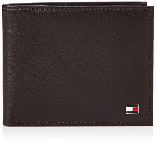 Tommy Hilfiger Eton Mini CC Wallet, Cartera para Hombre, Brown, OS