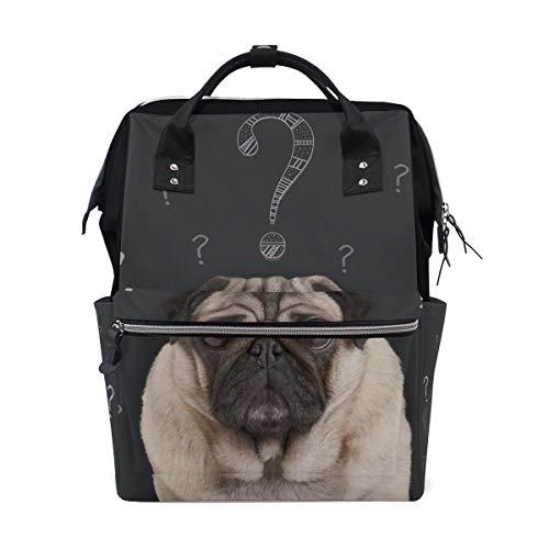 Rucksack Tasche Curious Dogs Question Rucksack für Frauen Mom Verstellbarer Gurt Outdoor Casual Daypack