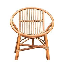 Accueil Lounge Chair simple Balcon Chaise longue Fauteuil d'extérieur patio avec une petite chaise en rotin Tabouret for…