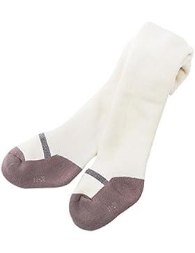 Feoya - Pantimedias Calcetines para Invierno Cálido Polainas Medias Grueso Pantalones Elásticos para Bebés Niñas