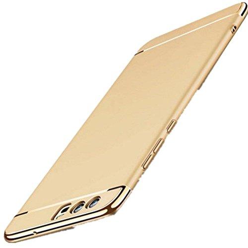 Teryei Custodia Huawei P10/ P10 Plus 3 in 1 Alta qualità Ultra Sottile Protettiva in Plastica Duro PC Shell Piena Protezione (3, Huawei P10)