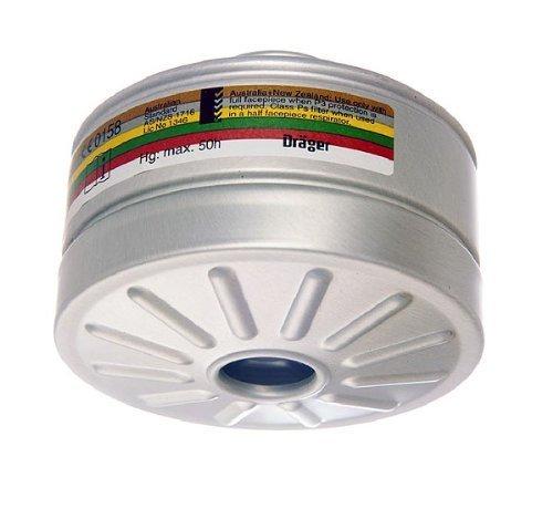 Dräger X-plore Kombinationsfilter 1140 A2B2E2K1 Hg P3 R D für Gas und Partikel (EN 14387) Qualitätsfilter für Masken mit Rundgewinde RD40 (EN 148-1)
