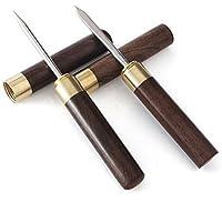 SONGER 2Pcs Blackwood Portable Puer Tea Knife + Tea Needle set, Picking tea tools Wooden Handle Ice Pick Professional Tool for Breaking Prying Cake Brick