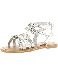 40ae782a1b03 Princess Stardust Petra Girls Kids Strappy Sandals Silver - Silver - UK  Sizes 4-12