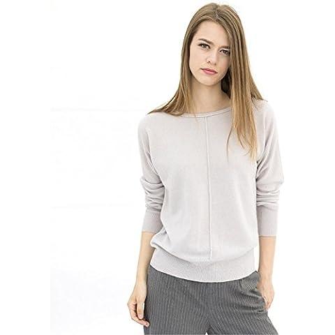 Moda donna maglione girocollo Cashmere manica lunga , meters , m