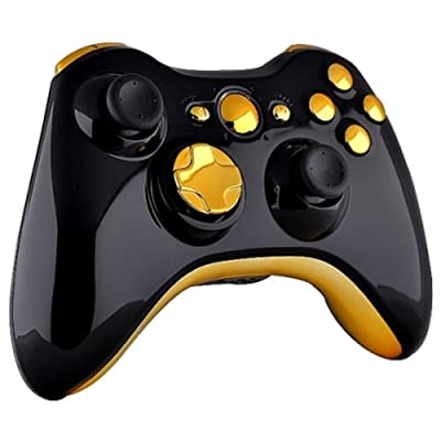 Xbox 360 Wireless Controller - Polished Piano Black with Gold Buttons