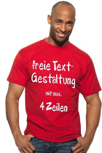 TH-Design T-Shirt Druck mit Wunschtext Logo/eigener Grafik, viele Farben und Größen zur Auswahl