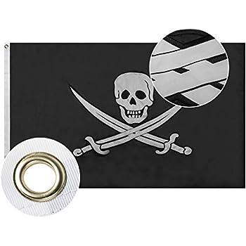 Piccola BANDIERINA dei Pirati AZ FLAG Bandiera da Tavolo Pirata SCIABOLA 21x14cm Teschio 14 x 21 cm