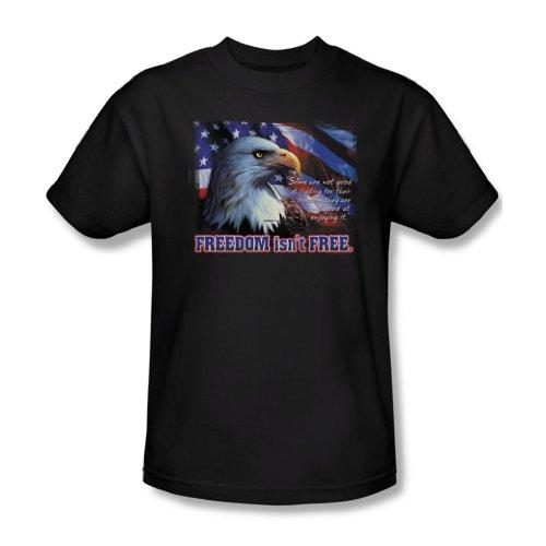 Freedom Isn'T, per adulti, colore: bianco, taglie: S/S-T-Shirt da uomo Bianco