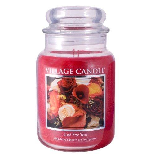 Village Candle Vela Grande con Aroma Solo para Ti, Rojo, 10.2x10.1x15.4 cm