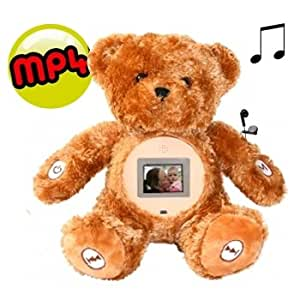 Peluche ours 25 cm lecteur mp4 video + radio 2gb