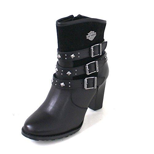 SODIAL(R)Botas retro negro de Martin del alto talon Botas de moto para mujer US6 (37) 8QYNIk0