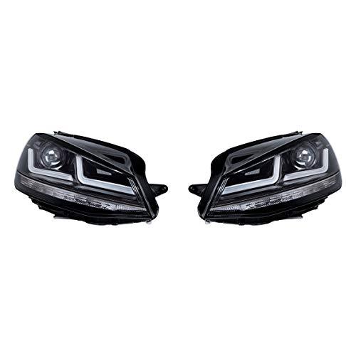 Osram Ledriving Golf 7 LED Scheinwerfer, Schwarz Edition als Xenonersatz zur Umrüstung auf LED, LEDHL104-BK, für Linkslenkerfahrzeuge (1 Komplett-Set)