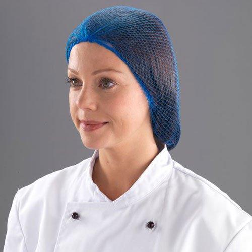 SHIELD DM/Netze Haarnetz, One size, Blau (48Stück)