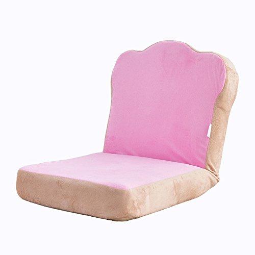 ZAY TY XRXY Nähendes Farbe-kreativer Weicher Klappstuhl/Rosa faules Sofa/Schlafzimmer-Bett Erker-Rückseiten-Stuhl/Mini Praktisches Kleines Sofa/Boden-Stuhl