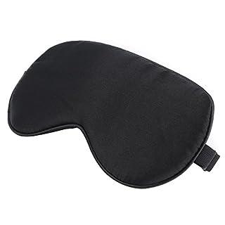 Schlafmaske,Rixow Schlafbrille komplette Dunkelheit und freies Bewegen der Augen für die Schlafenszeit und Reisen, Einheitsgröße, Schwarz