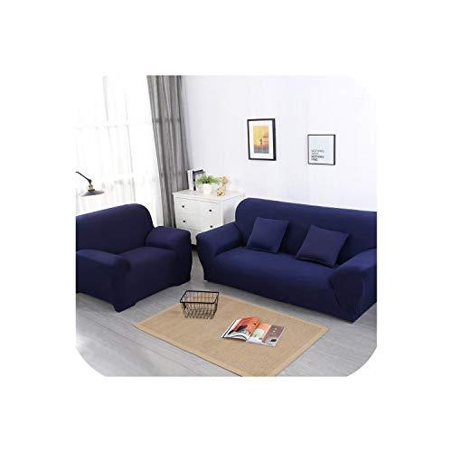 Happy Towns Blessliving Elastischer Sofabezug, einfarbig, Sofakissenbezug für Wohnzimmer, Einzelcouch, 1/2 / 3/4 Sitzer, Dunkelblau