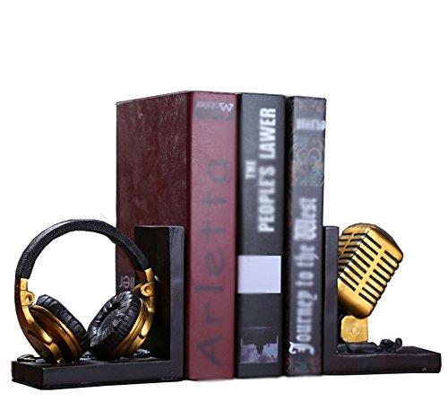 AISHUAIGE Retro Mikrofon Buchstützen Kreative Dekoration Ornamente Handwerk Ornamente