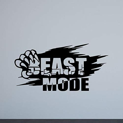 o Gym Poster Sport Motivierend Zitat Inspirierend Vinyl Aufkleber Bodybuilding Fitness Dekor 57 * 111 cm ()