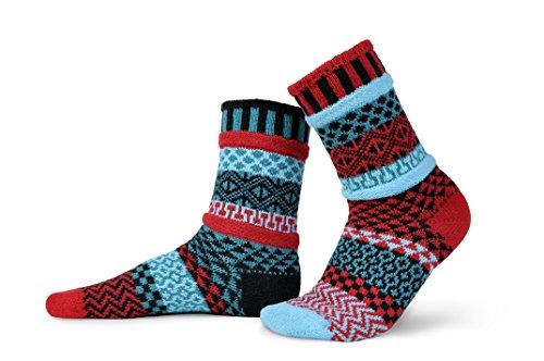 Solmate Socks Damen Socken, Gestreift mehrfarbig mehrfarbig Gr. Medium, Mars (Liner Socken Injinji)