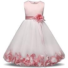 NNJXD Fille Fleur Bowknot Baptême De Demoiselle d honneur De Mariage Robe De  Fête 0 997b33346ee