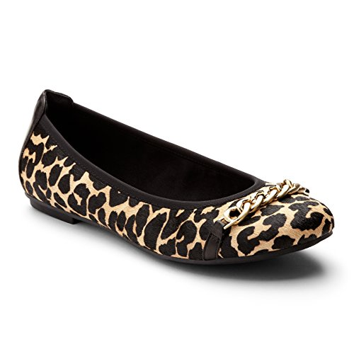 Vionic  Vionic Pera Ballet Flat, Ballerines plates femme Tan Leopard
