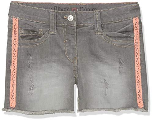 s.Oliver Mädchen 66.903.72.2025 Shorts, Grau (Grey Denim Stretch 95z2), 164 (Herstellergröße: 164/REG) - Mädchen Jeansshorts