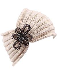 Tukistore Donne maglia Crochet fatto a mano Fascia per capelli Fascia per  capelli lavorato a maglia 25fc040e7d81