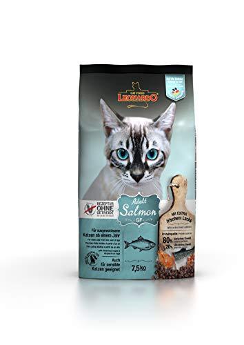 Leonardo Adult GF Salmon [7,5kg] Katzenfutter | Getreidefreies Trockenfutter für Katzen | Alleinfuttermittel für Katzenrassen ab 1 Jahr