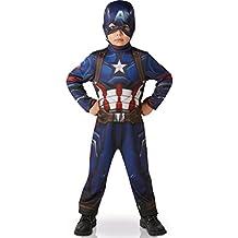 CAPTAIN AMERICA GUERRA CIVIL ~ clásico del Capitán América (sin músculos) - Traje de niños 3 - 4 años