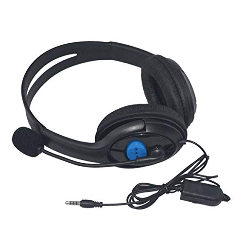 Kopfhörer, kabelgebunden, Stereo-Headset mit Mikrofon, geräuschisoliert, für Sony PS3, PS4, Laptop, Schwarz (Sony Stereo-headset Ps3)