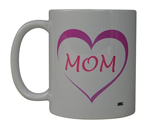 Rogue River Funny Kaffee Tasse World 's Best Mom Herz Love Neuheit Tasse tolle Geschenkidee für Mama Muttertag Frau oder Eltern (Herz)